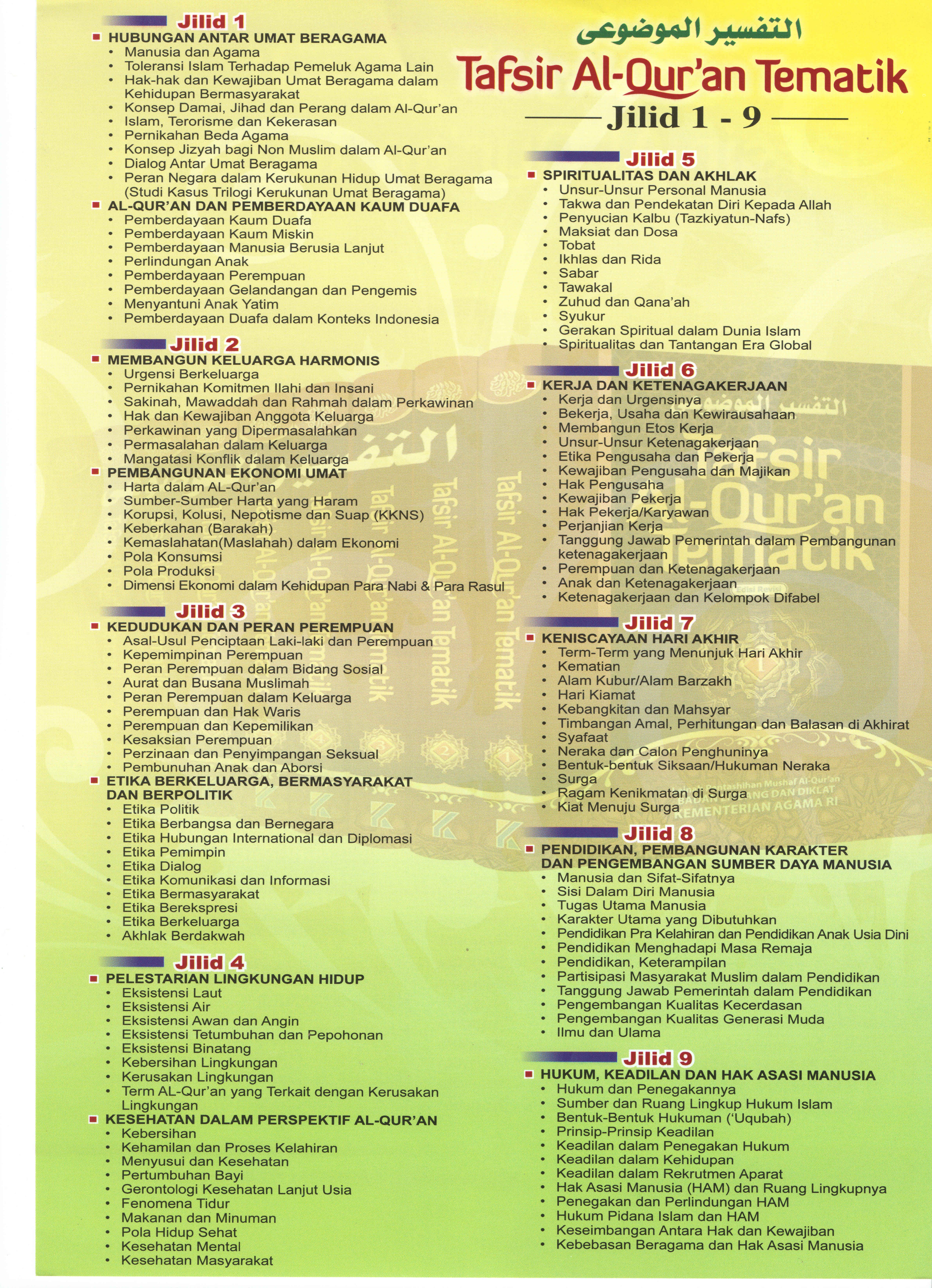 tafsir quran tematik 1 Jenis jenis Kaligrafi Arab